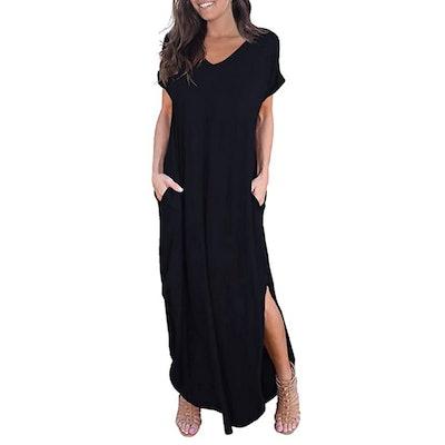 GRECERELLE Casual Split Maxi Dresses