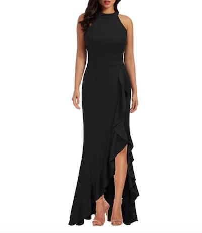 WOOSEA High Neck Evening Dress