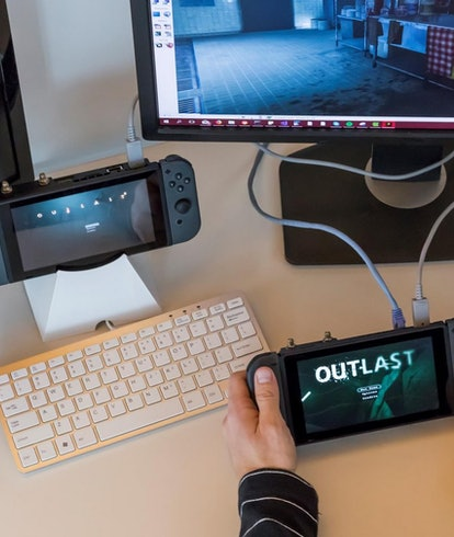 Nintendo Switch dev kit with an ethernet port