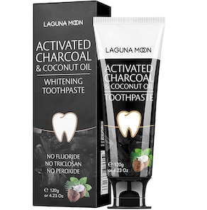 Lagunamoon Activated Charcoal & Coconut Oil Toothpaste, 4.23 oz.
