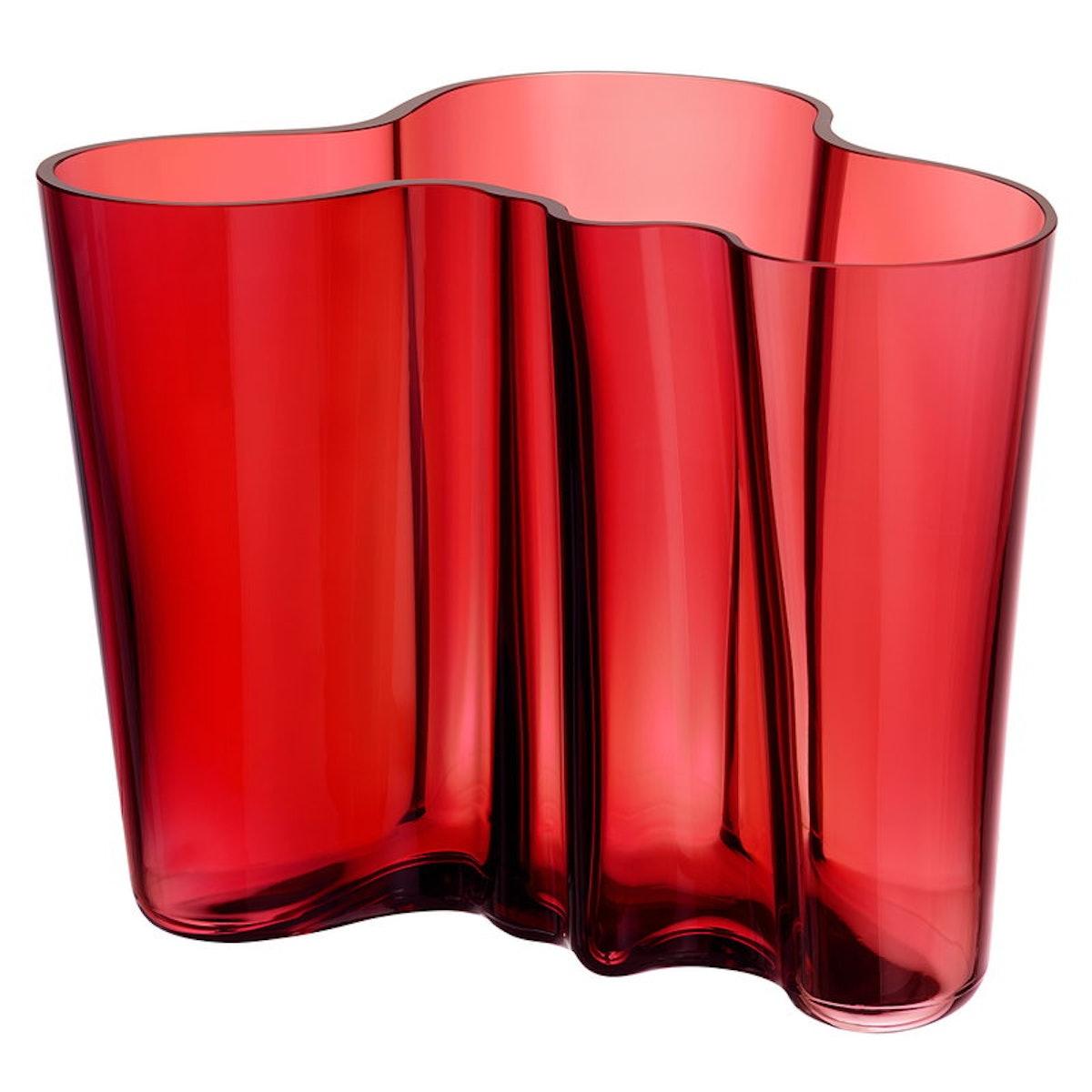 Aalto vase 160 mm, cranberry