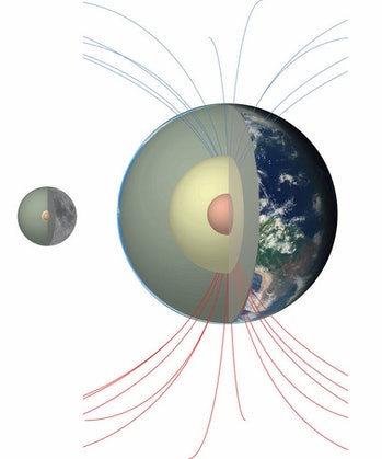 Relative to the Earth, the Moon has a small core, and it is not obvious how it could have created a ...