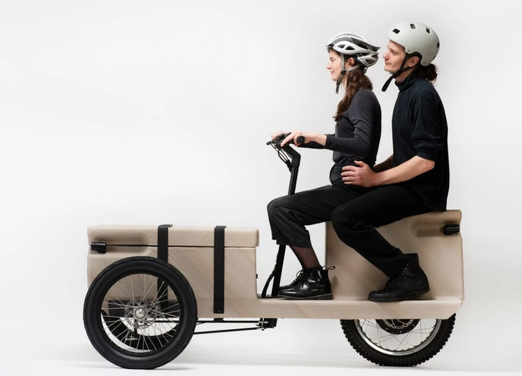 Austrian design firm EOOS has created an electric tricycle that aims to be truly zero-emissions.