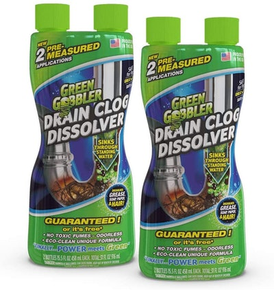 Green Gobbler Liquid Hair & Grease Clog Remover, 15.5 Oz. (2-Pack)