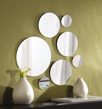 Elements Round Wall-Mount Mirrors (Set of 7)