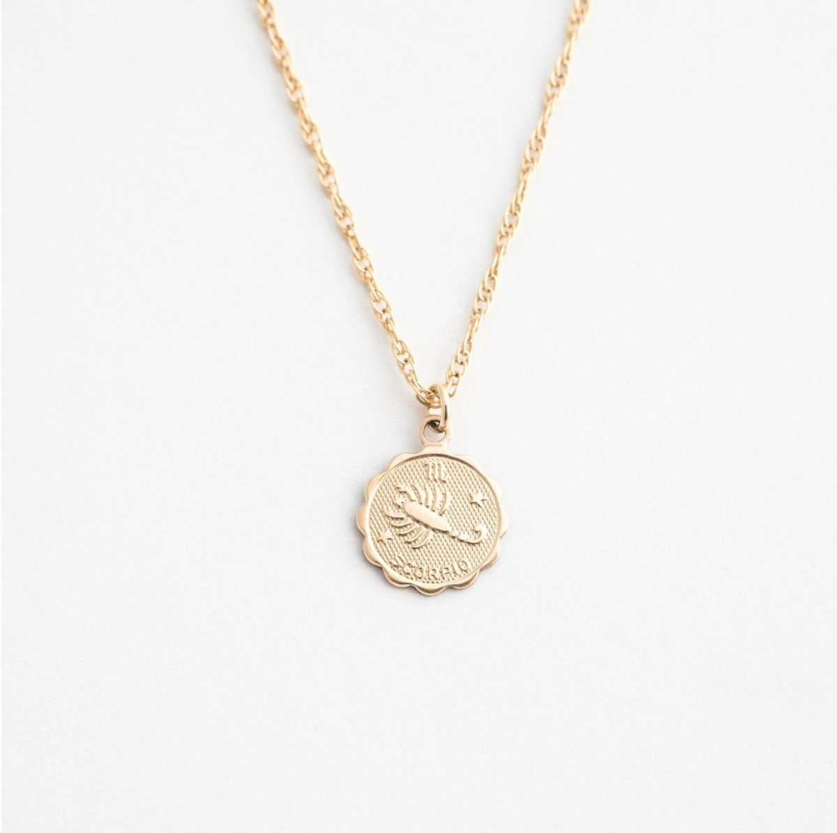 Simple & Dainty's dainty zodiac necklace.