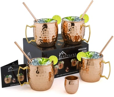 Moscow-Mix Mule Copper Mugs (Set of 4)