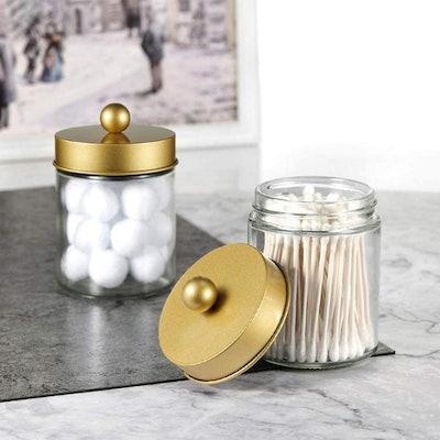Amolliar Gold Apothecary Jars (2 Pack)
