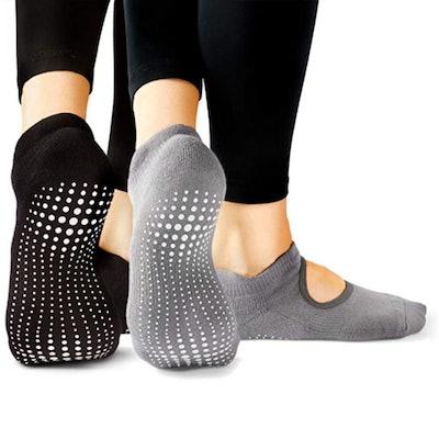 LA Active Nonslip Socks (2 Pairs)