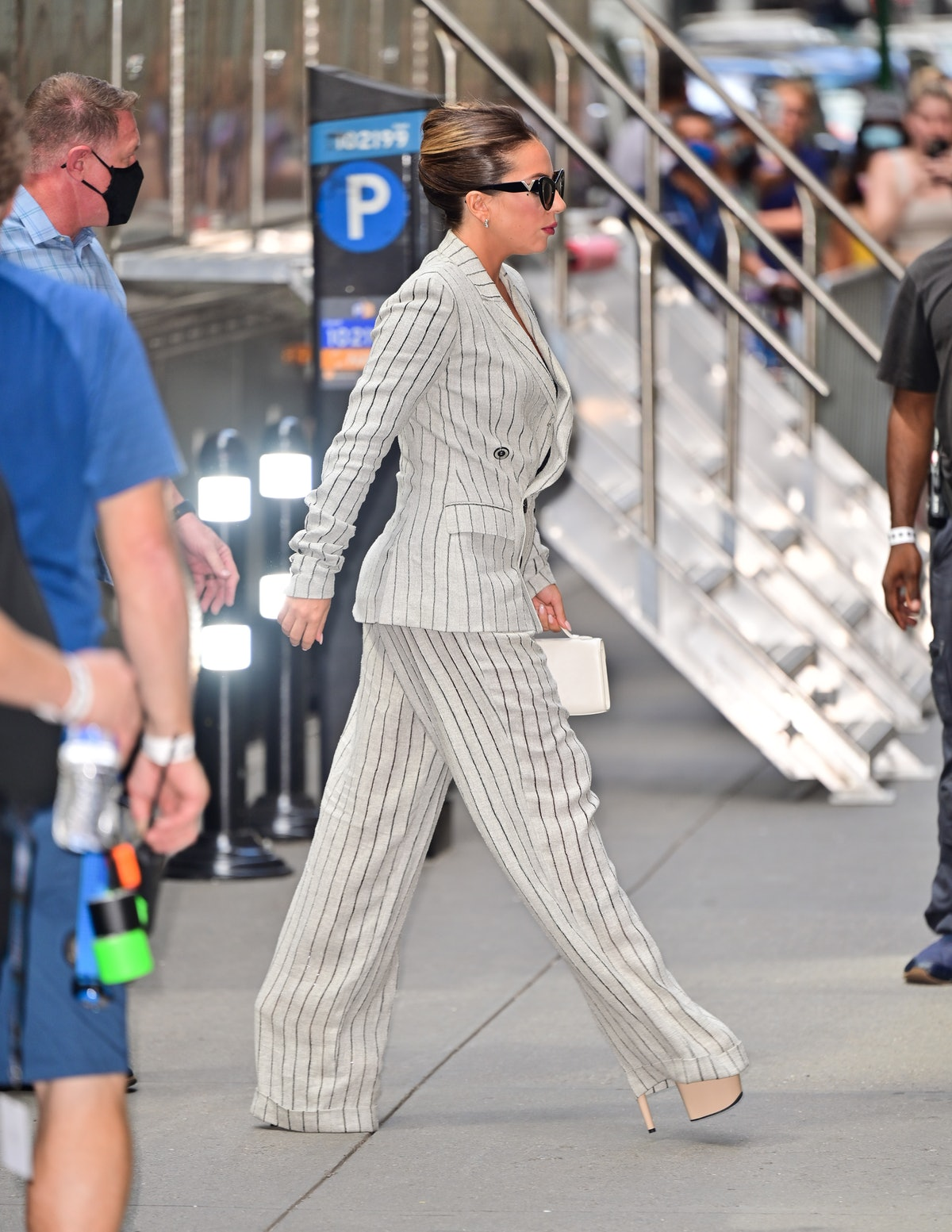 Lady Gaga seen on the streets of Manhattan on August 02, 2021 in New York City.