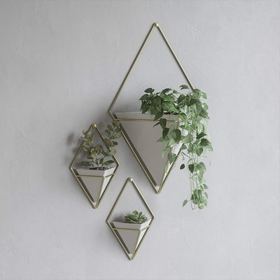 Umbra Trigg Hanging Planter Vase & Geometric Wall Decor