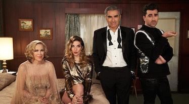 "Alexis, Moira, David and Johnny in ""Schitt's Creek'"