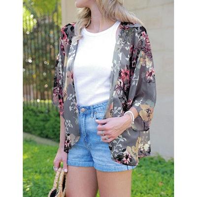 BB&KK Floral Kimono Cardigan