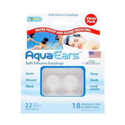 AquaEars Soft Silicone Earplugs (18 Pairs)