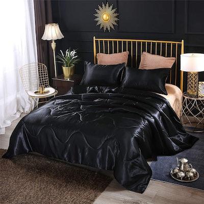 A Nice Night Satin Comforter Set (3 Pieces)