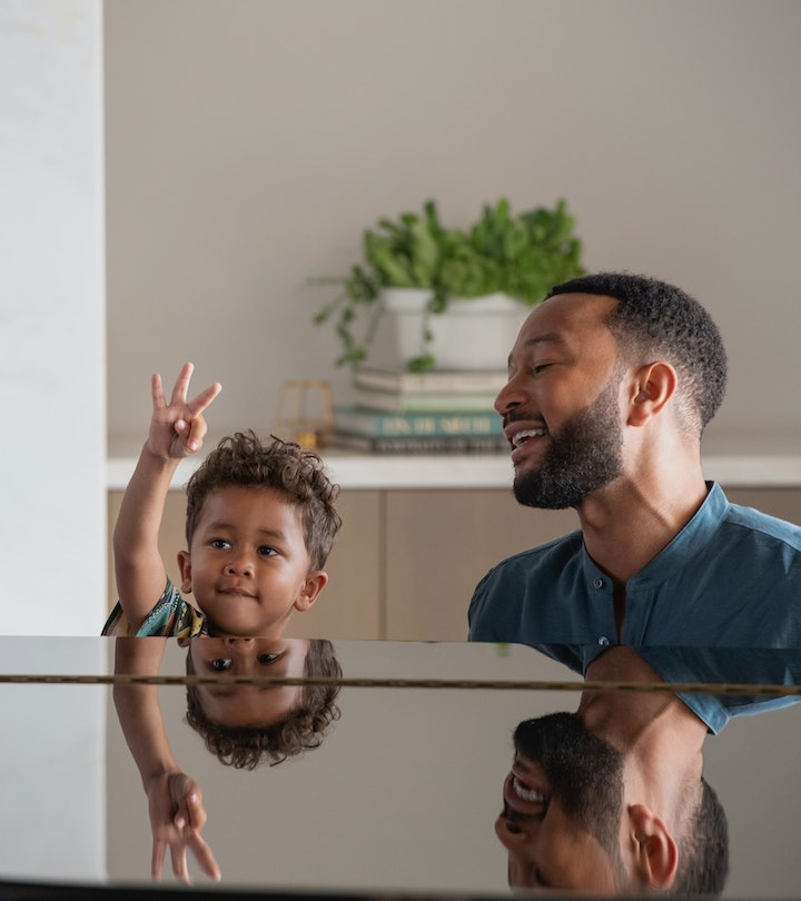 John Legend recommends parents take a preloaded iPad for their kids.