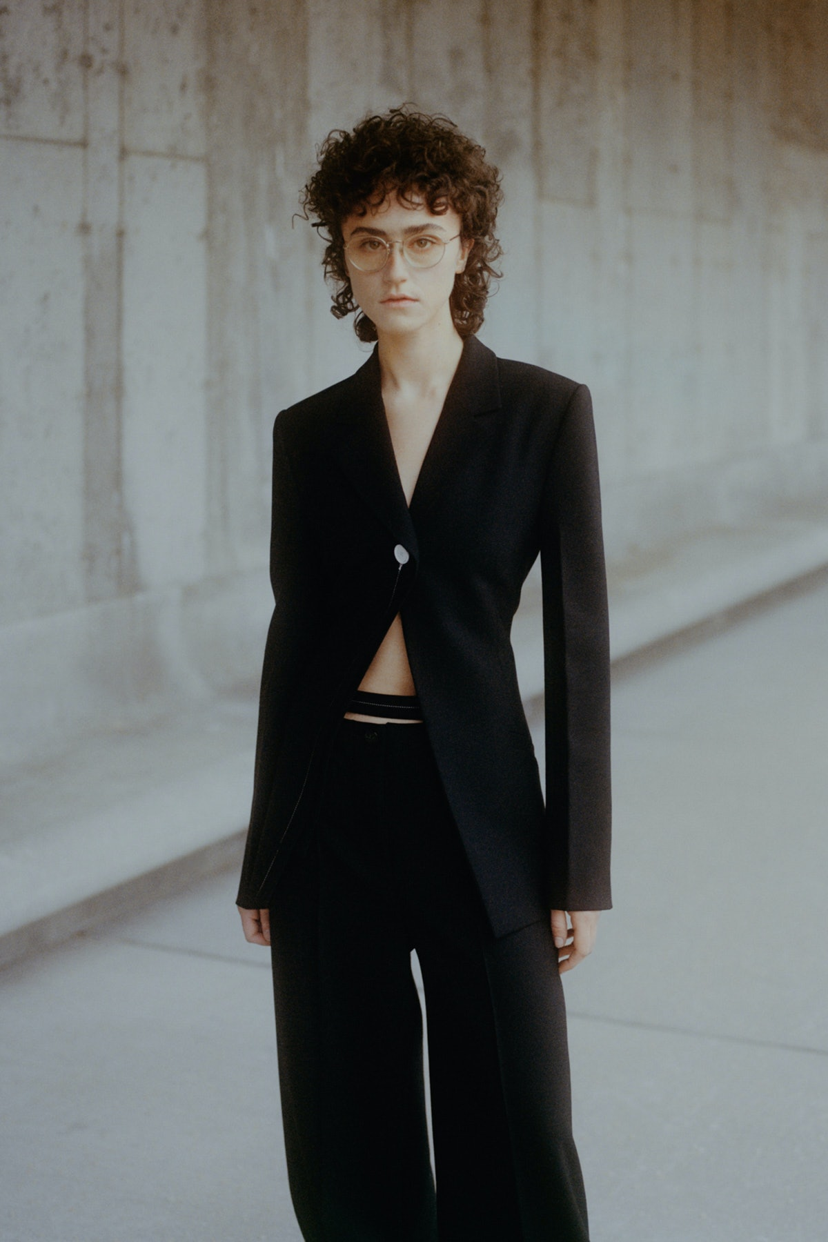 Ella Emhoff models for Proenza Schouler's Fall/Winter 2021 collection.