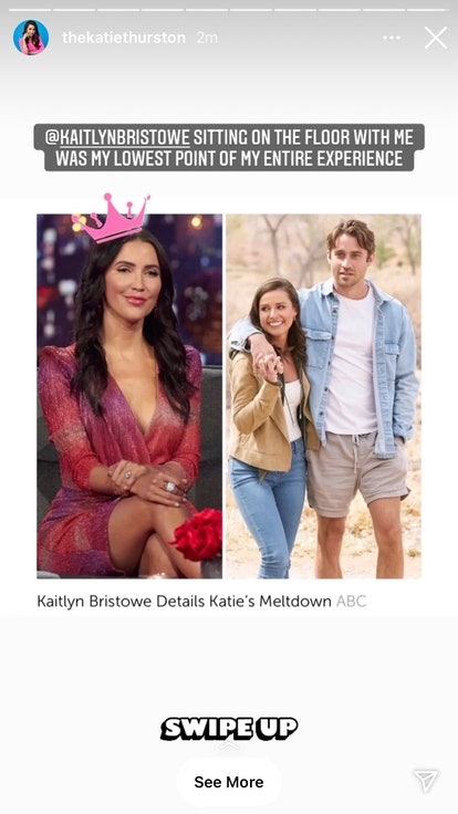 Kaitlyn Bristowe defended Katie Thurston after the messy Greg Grippo breakup.