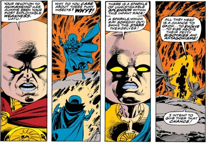 The Watcher from 'What If...?' is an important figure in the Marvel Comics. Screenshot via Marvel