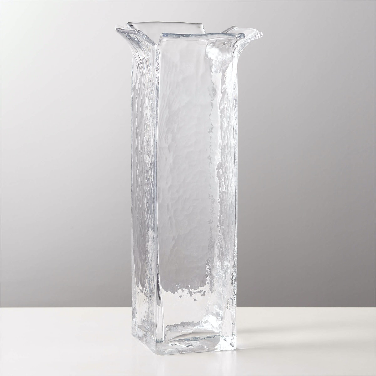 Flare Clear Glass Vase