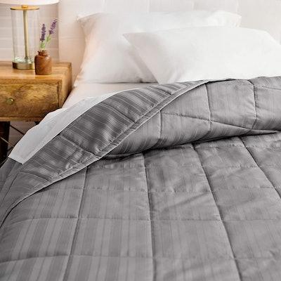 Welhome Alexander Cotton Sateen Stripe Oversize Quilt