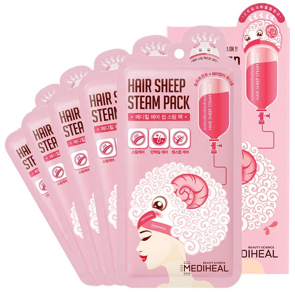 MEDIHEAL Hair Sheep Steam Pack (5 Sheets)
