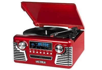 Victrola '50s Retro Bluetooth Record Player & Multimedia Center