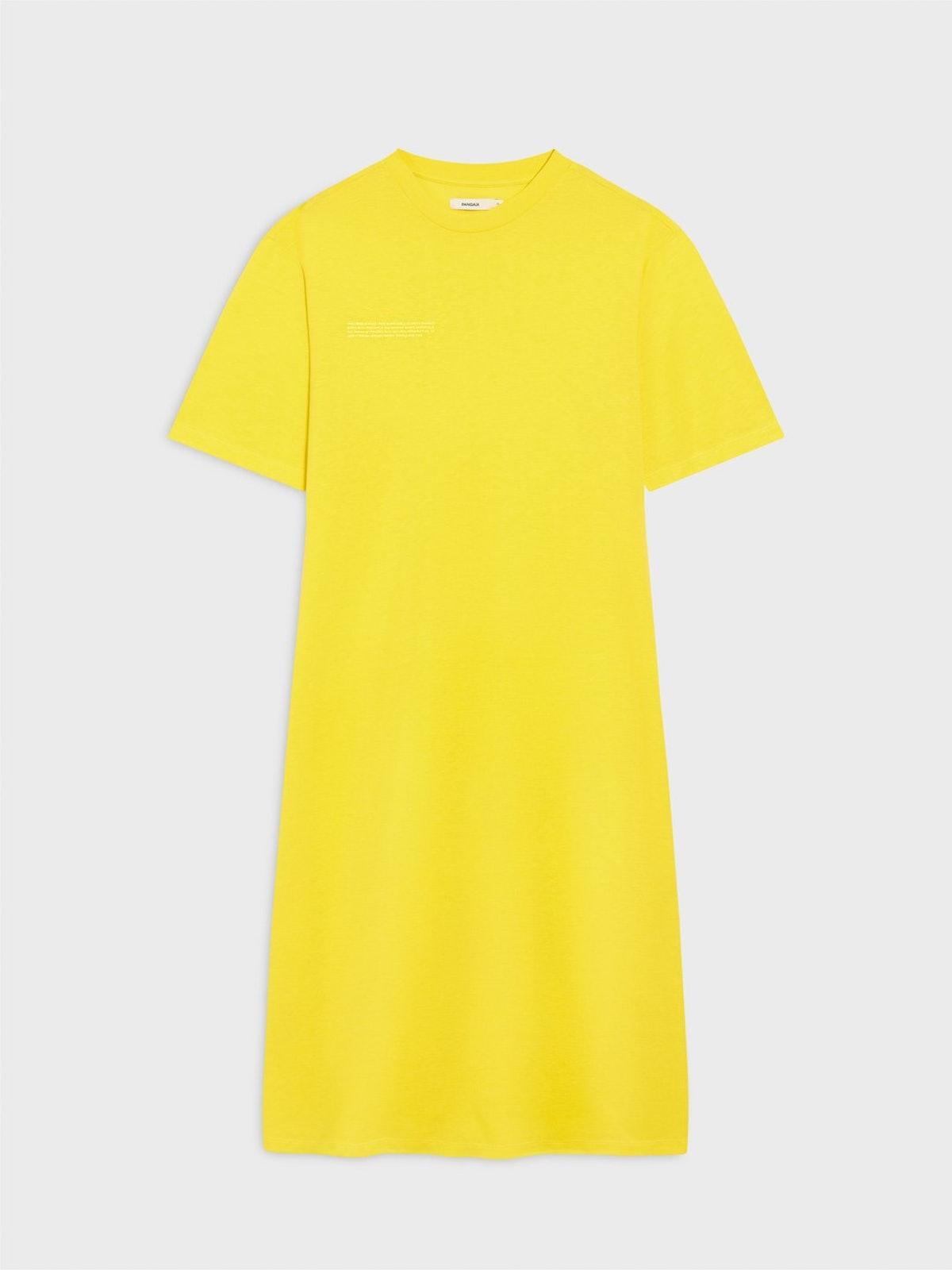 FRUTFIBER™ Maxi T-Shirt Dress in Yellow from PANGAIA.