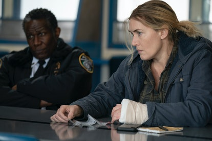 John Douglas Thompson as Chief Carter and Kate Winslet as Mare Sheehan in 'Mare of Easttown'