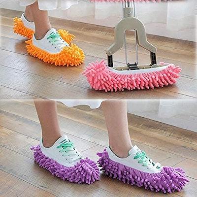 Yueiehe Dust Mop Slippers (5-Pack)
