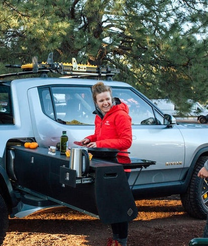 A camping accessory for the Rivian R1T
