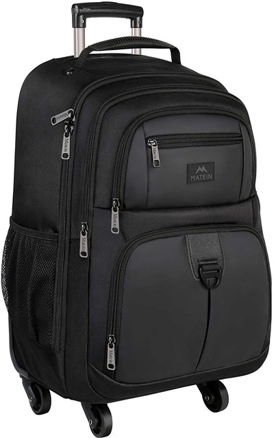 MATEIN 4 Wheel Rolling Backpack for Travel