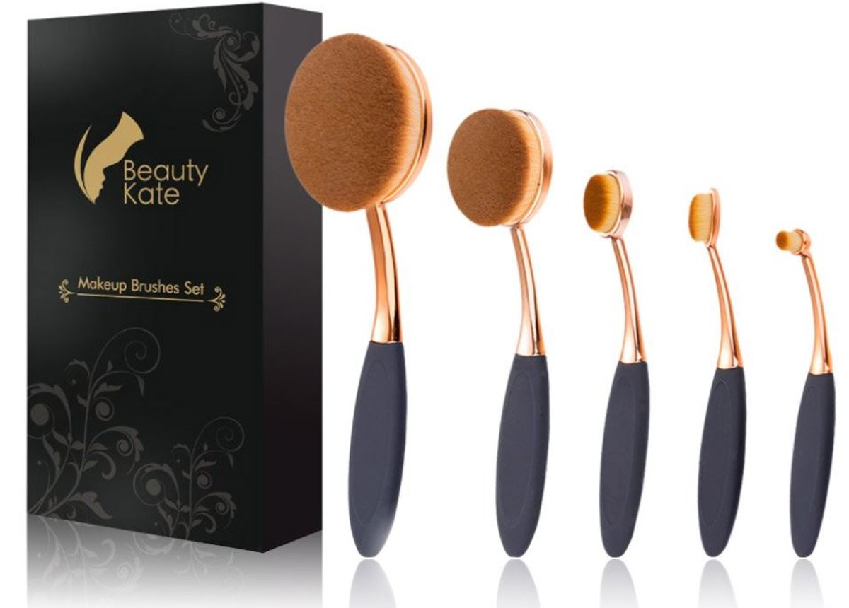 Beauty Kate Oval Makeup Brushes (Set of 5)