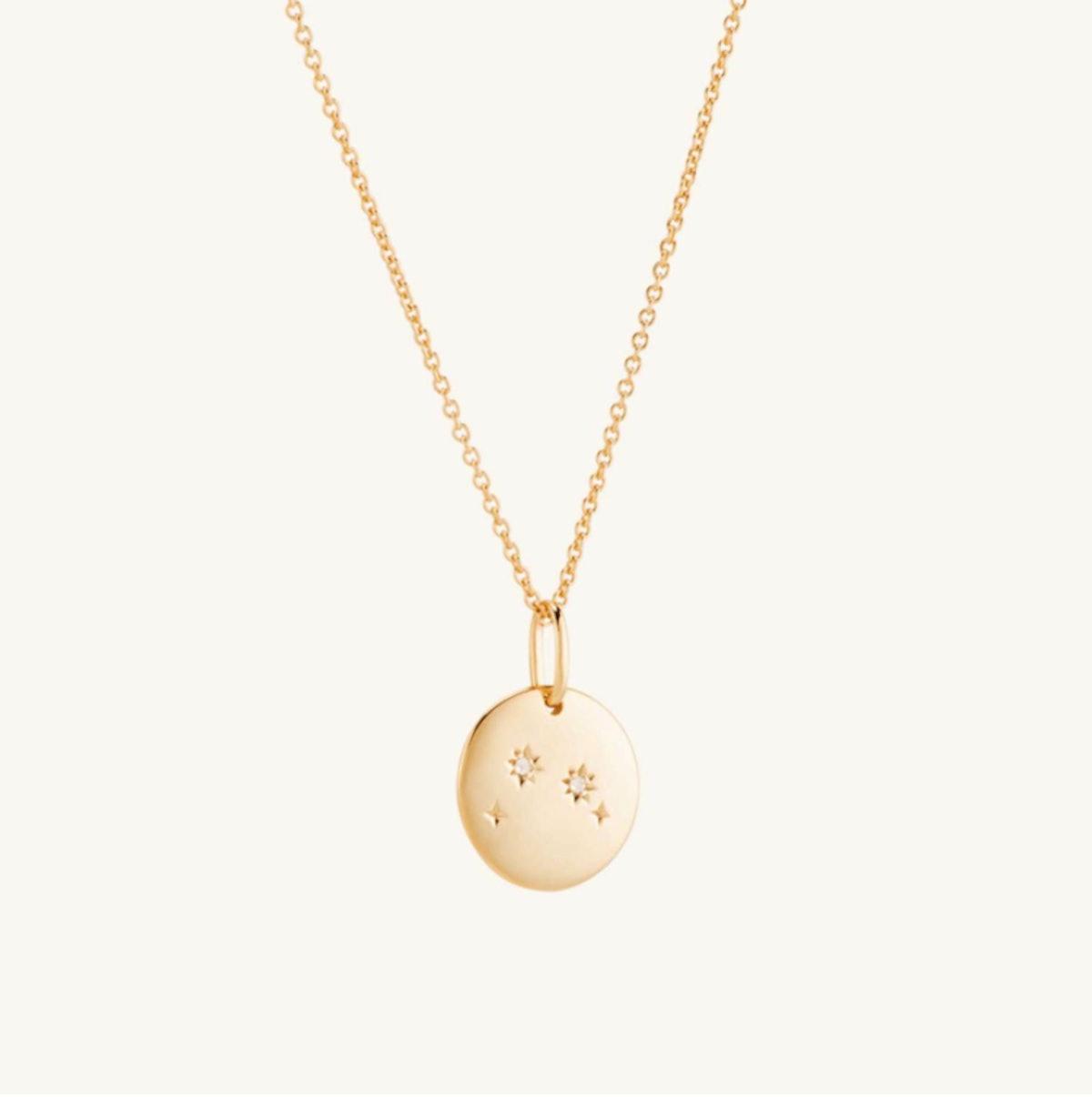 Mejuri's Aries Zodiac necklace in vermeil.