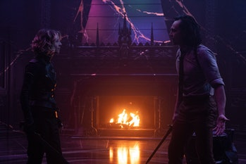 Sophia Di Martino and Tom Hiddleston in Loki Episode 6