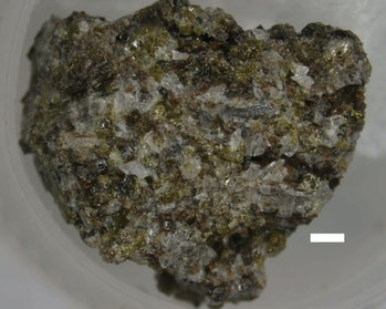 Samples from the Moon, like this lunar basalt, are a complex mix of many minerals, and only some can...