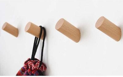 Felidio Wood Wall Hooks (4 -Pack)