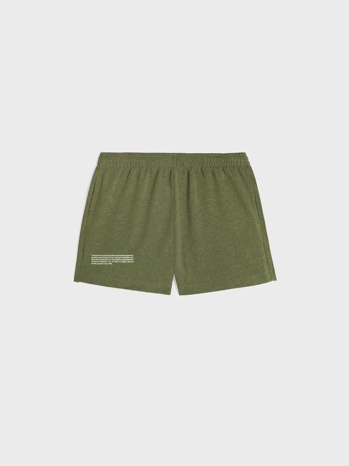 PLNTFIBER™ Shorts in Rosemary Green from PANGAIA.