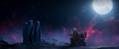 The Watchers made their MCU debut in 'Guardians of the Galaxy Vol. 2.' Screenshot via Disney+
