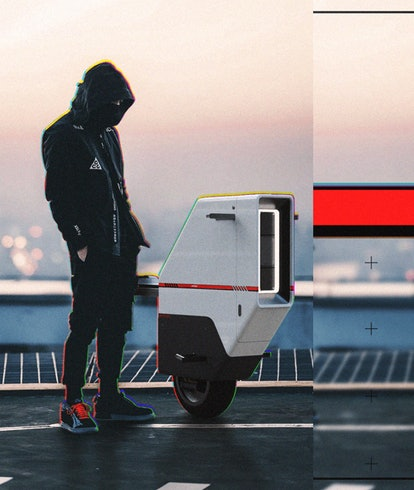 Spanish designer Nacho Alfonso created a concept for a one-wheeled electric motorcycle. EV. Electric...