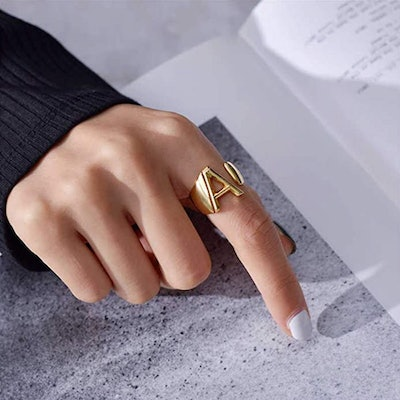 KeyStyle Adjustable Initial Ring