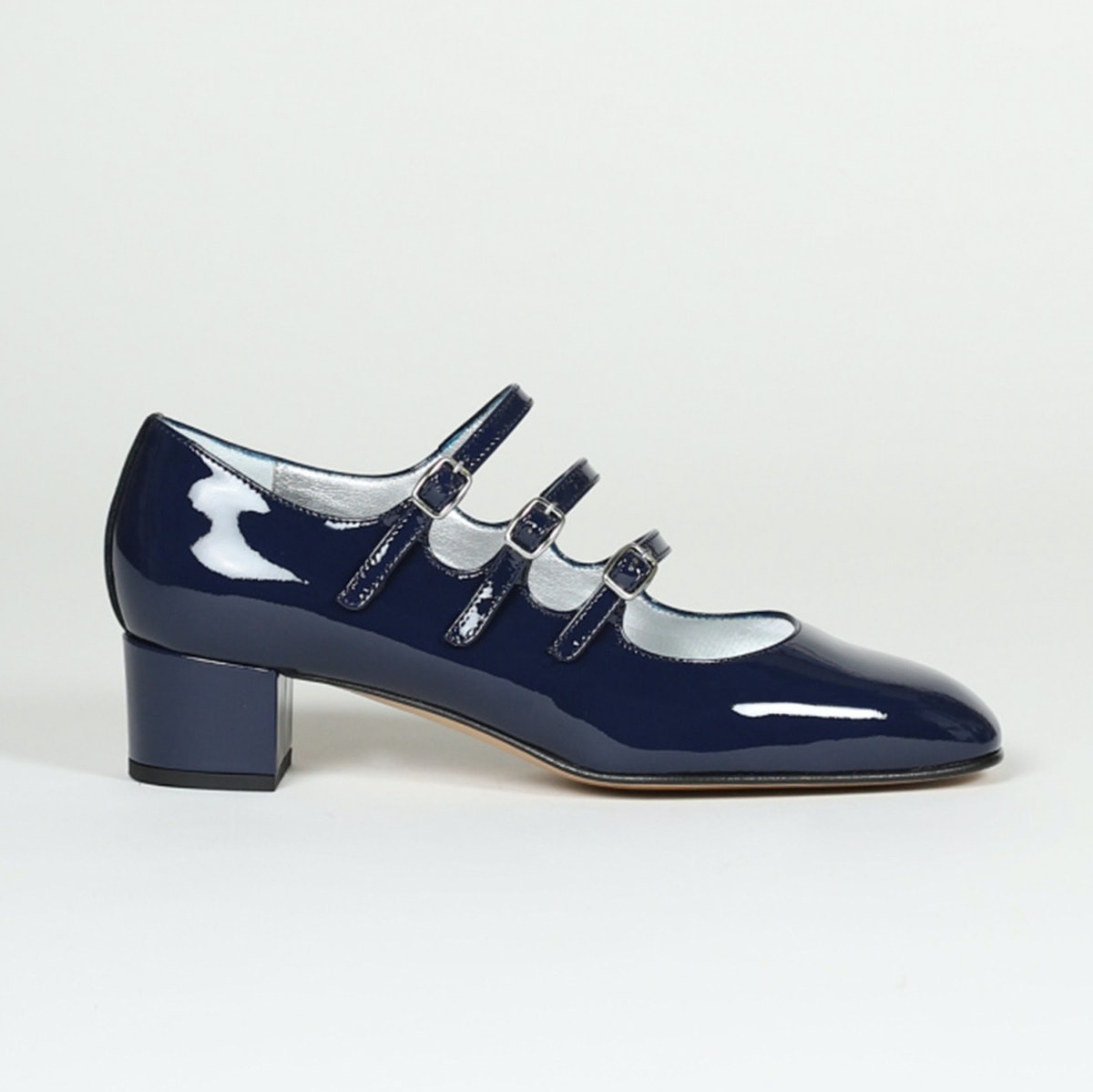 Carel Kina Blue Patent Leather Mary Janes