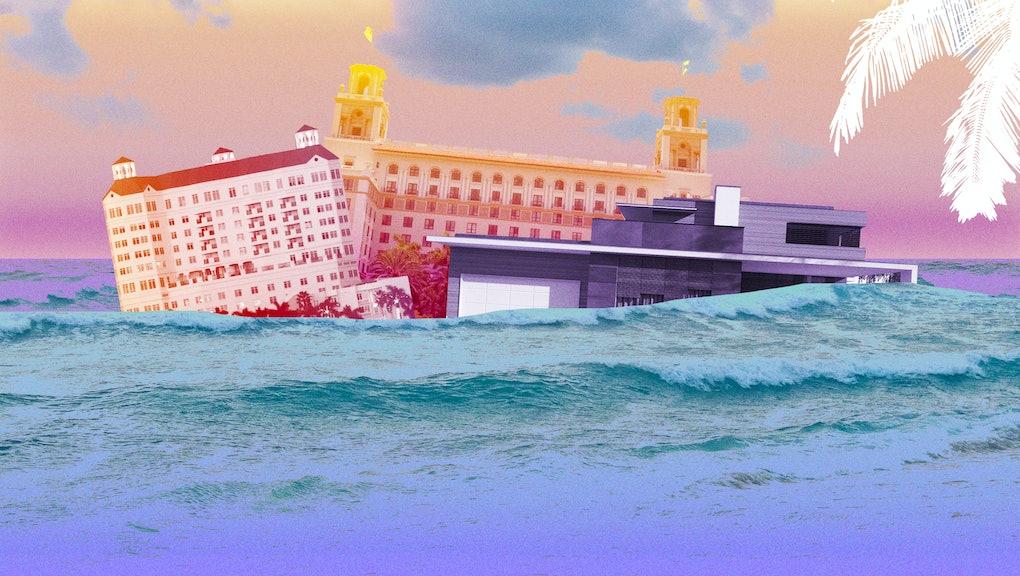 Illustration of buildings in Florida underwarer