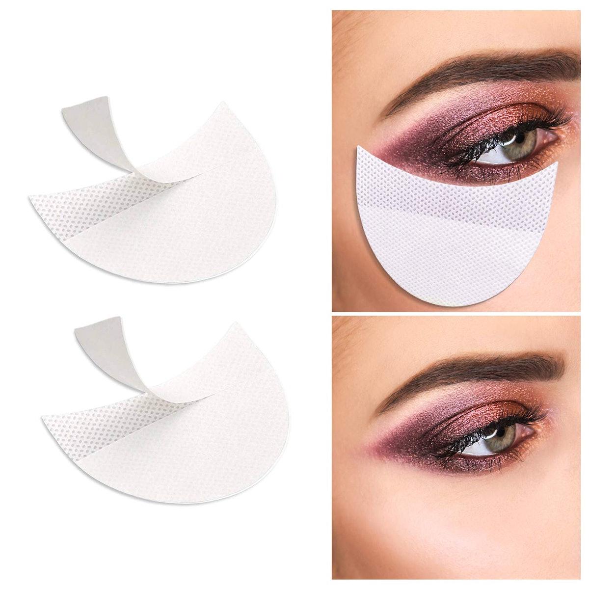 VEEYOL Professional Eyeshadow Pad Stencils (100-Pack)