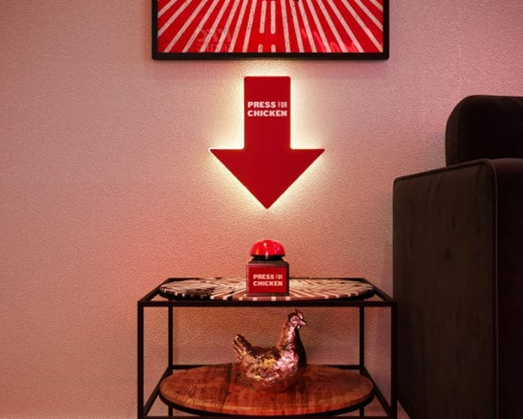 KFC is opening a fried chicken themed pop-up hotel in London.