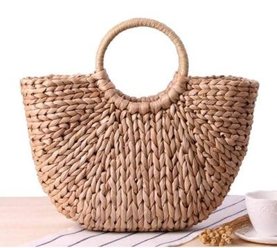 EROUGE Natural Chic Straw Bag