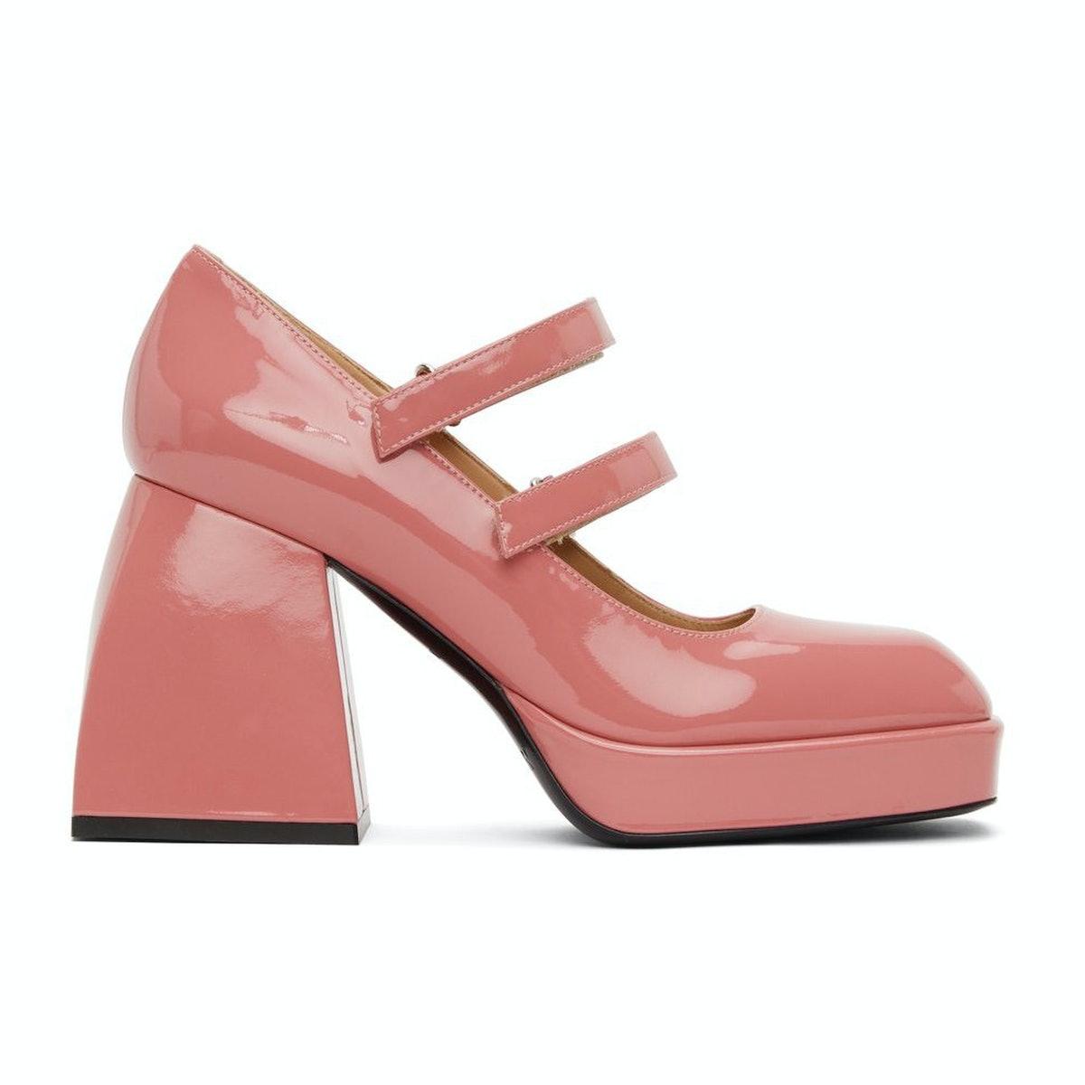 Nodaleto Pink Patent Bulla Babies 65 Heels