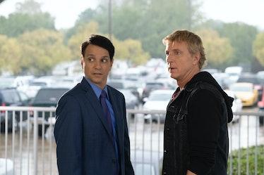 Ralph Macchio as Daniel LaRusso and William Zabka as Johnny Lawrence in Cobra Kai