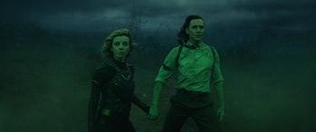 Sylvie and Loki holding hands in Loki Episode 5