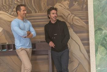Shawn Levy with Ryan Reynolds.